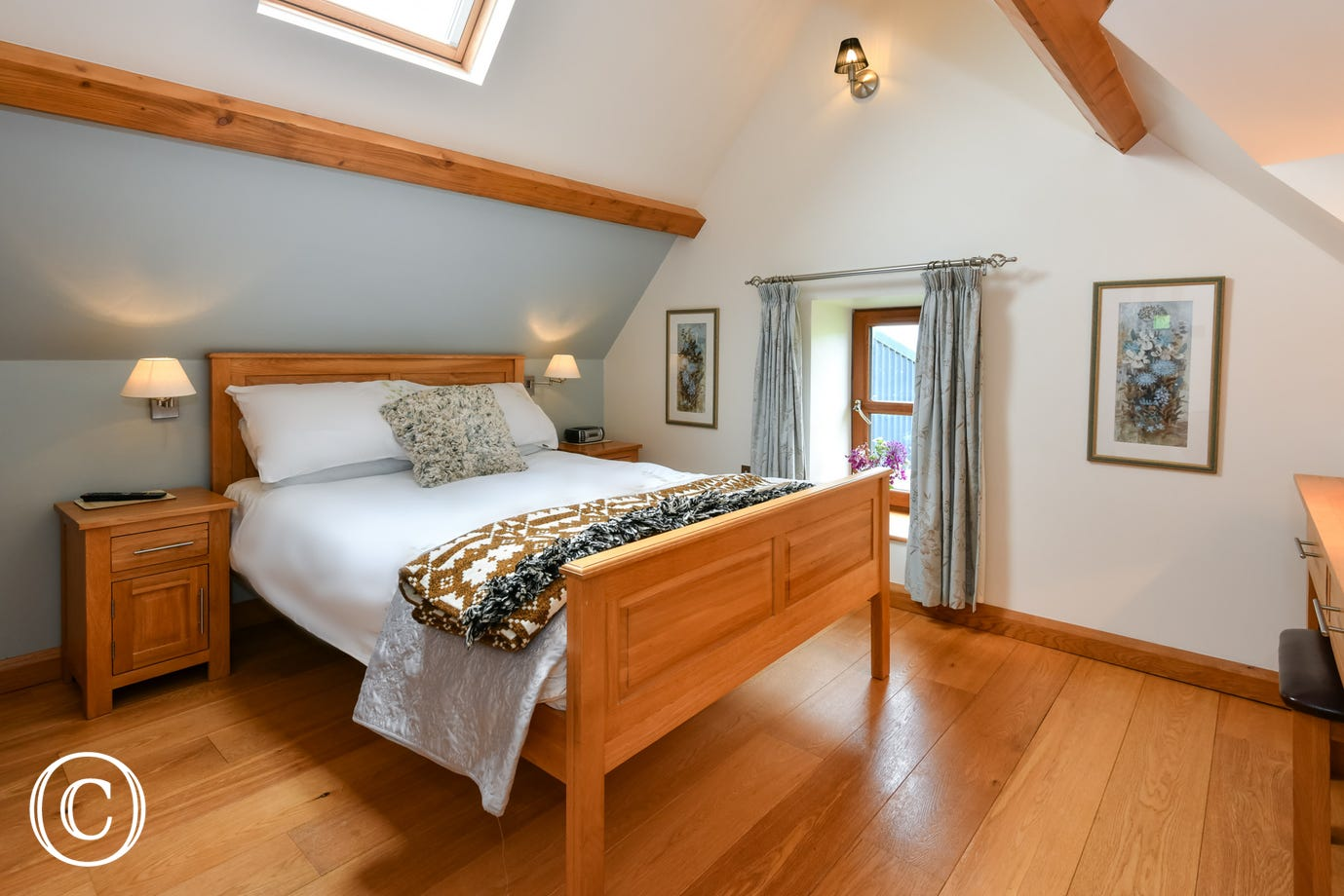 Llyn Peninsula self catering holidays: oak furniture & flooring throughout